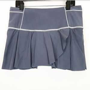 Lululemon Pleated Overlay Skirt Skort Size 6 Gray
